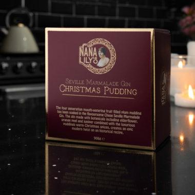 Nana Lily's Seville Marmalade Gin Christmas Pudding